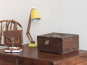 View our  Vintage Indian Shekawati Box from the  Old Wooden Chests, Trunks & Boxes collection