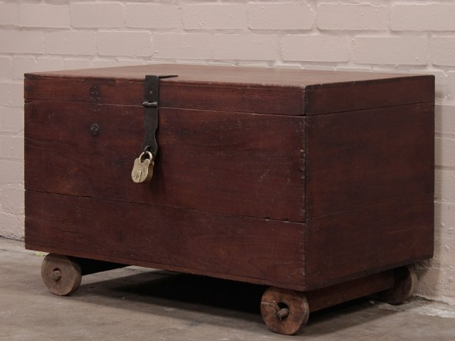 View our  Antique Teak Chest from the  Old Wooden Chests, Trunks & Boxes collection