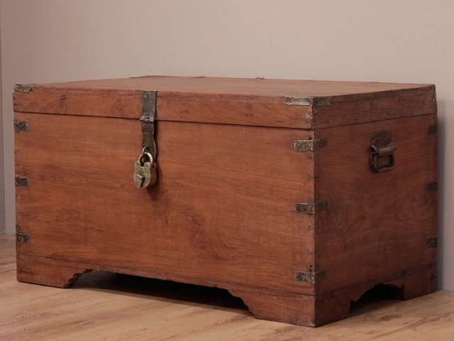 View our  Antique Teak Wedding Chest from the  Old Wooden Chests, Trunks & Boxes collection