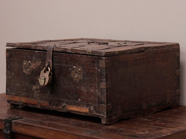 View our  Old Shekhawati Chest from the  Old Wooden Chests, Trunks & Boxes collection