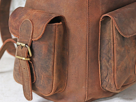 Women's Leather Backpack  Thumbnail