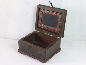 Wooden Box With Mirror Thumbnail