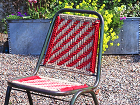 Woven Vintage Stacking Chair Thumbnail