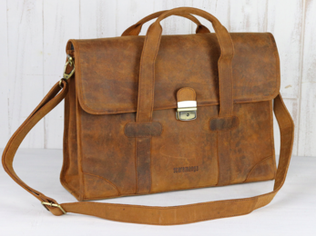 /The Carter Leather Briefcase