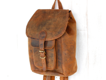 /Boho Leather Backpack Mini
