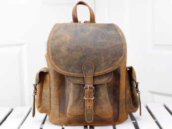 /Leather Backpack