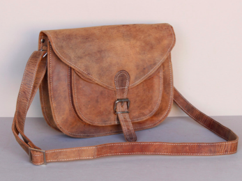 /Leather Saddle Bag 12''