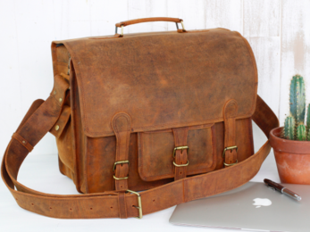/Medium Overlander Leather Satchel 16''