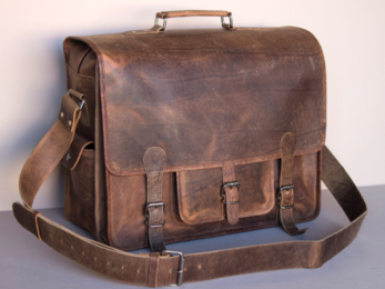 /Large Overlander Leather Bag 18''