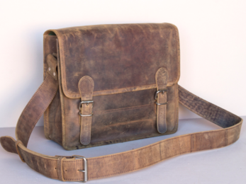 /Small Leather Satchel 13''